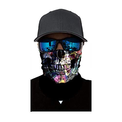 (Sunshinehomely Halloween Horror Headkerchief, Skull Cycling Motorcycle Neck Tube Ski Scarf Face Mask Balaclava Halloween Party)