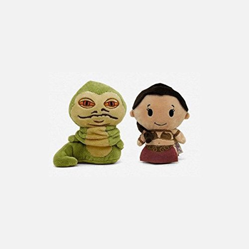 Hallmark Itty Bitties Jabba the Hutt and Princess Leia SDCC 2016 Exclusive Plush Figures