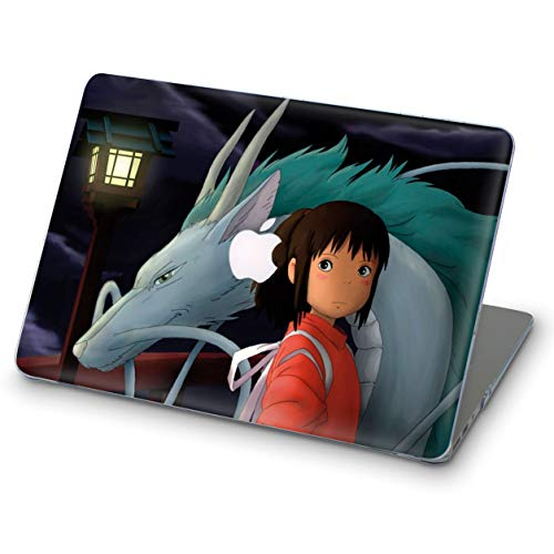 Spirited Designs - ZVStore MacBook Case Spirited Away Animation Art Design Protective Shell Sleeve Plastic Hard Pro Case MacBook (Pro 13 (A1706 & A1708 & A1989) 2018, Chihiro Ogino Haku)