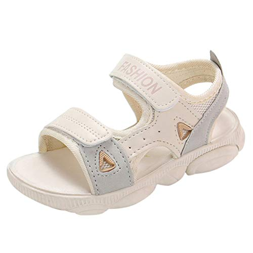 Tantisy ♣↭♣ Kids Summer Open Toe Sandals Comfy Breathable Beach Shoes Toddler Casual Sport Shoes for Big Kids/Little Kids Beige