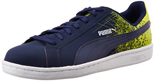 Puma Puma Smash FR - zapatilla deportiva de material sintético Unisex adulto azul - Blau (peacoat-sulphur spring 03)