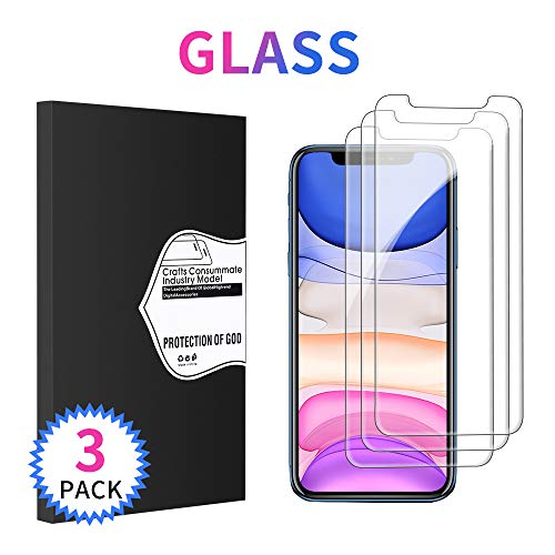 FunPi Screen Protector for iPhone XR, iPhone XR Screen Protector [3-Pack] Tempered Glass Film for Apple iPhone XR, Easy Install (6.1 inch)