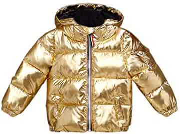 1232d6916 BESBOMIG Ultralight Shining Quilted Jacket Girls Boys - Cute Fashion Hooded  Outwear
