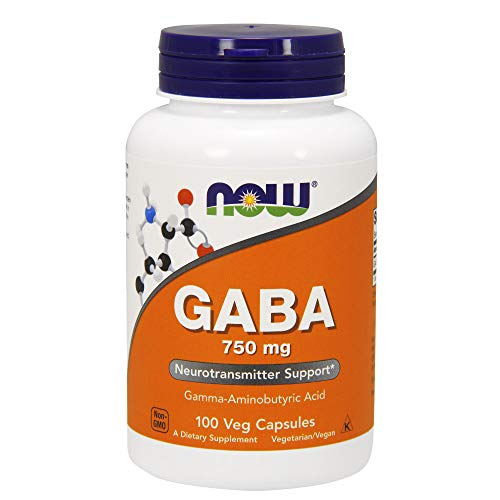 NOW GABA 750 mg,100 Veg Capsules