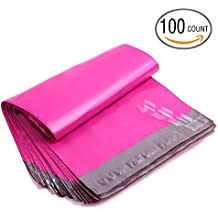 Poly Mailers, Ohuhu 10x13 100-Pack Hot Pink Shipping Envelope Mailers for Customer Gifts Packages, Self Sealed Business Shipping Mailer Bags with Self Adhesive Strip, Water Resistant