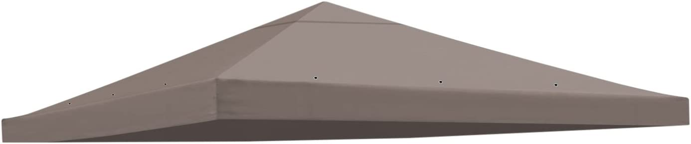 BenefitUSA Replacement Gazebo Canopy Top Patio Pavilion Cover Sunshade Polyester Single Tier, Taupe