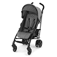 The Liteway Stroller features a lightweight aluminum frame, compact fold, automatic storage latch, and carry handle for on-the-go convenience. The backrest is easy to adjust with one hand, with a total of four positions to accommodate growing...
