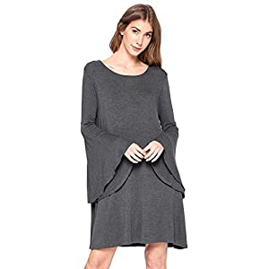 12 Ami Bell Sleeve Loose Flowy T-Shirt Midi Dress – Made in USA