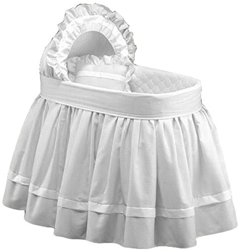 (Baby Doll Bedding Regal Pique Bassinet Bedding, White)