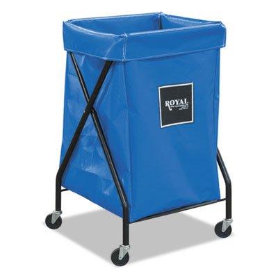 Bushel Vinyl Laundry Truck Cart (6 Bushel X-Frame Cart with Vinyl Bag, 20 x 22 x 36, 150 lbs. Capacity, Blue, Sold as 1)
