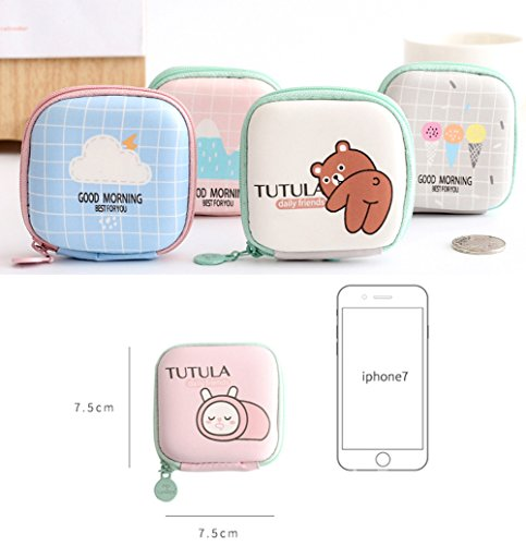 De Duro Cable Bolsa Kigurumi Línea Eva Disco Auriculares Portátiles Almacenamiento 6 Caja 5UBtn