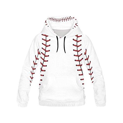 InterestPrint baseball All Over Print Hoodie Sweatshirt for Men