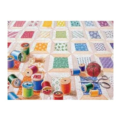 Spools 1000 pc Jigsaw Puzzle: SunsOut: Arts, Crafts & Sewing