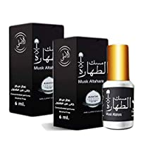 Women Musk Al tahara Pure Saudi Altahara Perfume White & Black 5 ml Oil Incense Scented Body Fragrance Alcohol Free (ALRAYAN Black, 2 Bottles = 12 ml)
