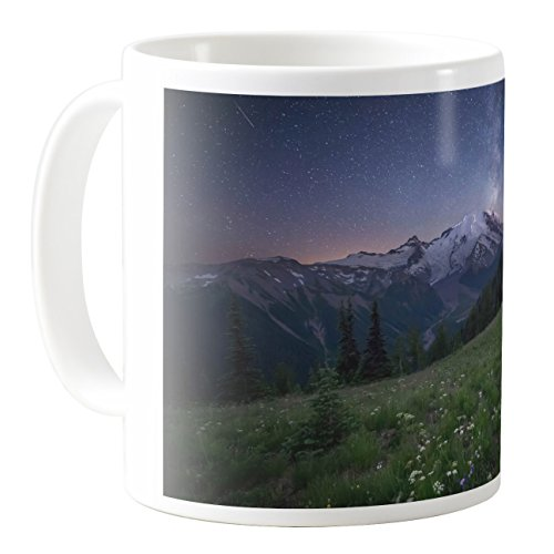 AquaSakura - CM11Z-B41792 - 11oz Ceramic Coffee Mug Tea - Cup Ranier