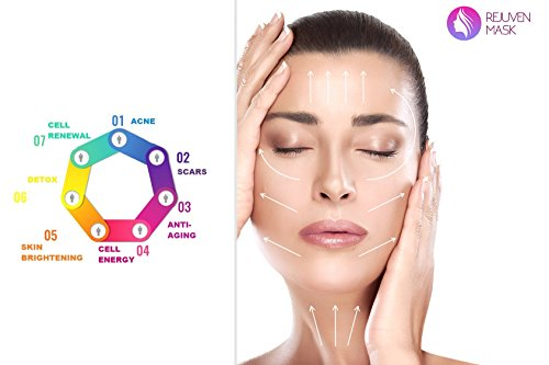 Led Face Mask - Rejuven Mask LED Light Therapy Mask for Anti-aging, Brightening, Improve Wrinkles. Tightening and Smoother Skin by Lift Care (Image #3)