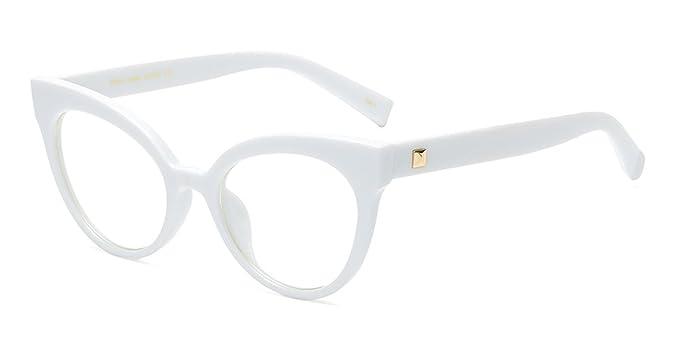 vari colori 05fbc 2af2d BOZEVON Donna Moda Classico Montatura Occhiali da Vista Occhiali con Lenti  Trasparenti Occhio di gatto Occhiali