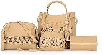 Bag For Women,Beige - Handbags Sets