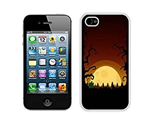 Personalization Halloween White iPhone 4 4S Case 3