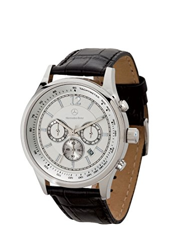 Genuine Mercedes-Benz MHT-052 - M-B MEN'S LEATHER CHRONO WATCH (13407) by Mercedes-Benz