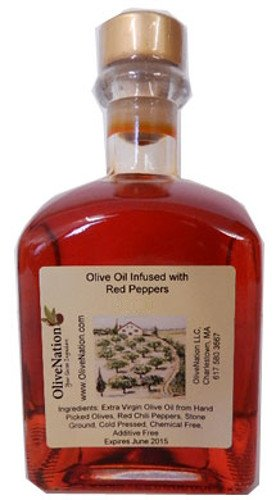 (Red Pepper Infused Oil 250 ml by OliveNation)