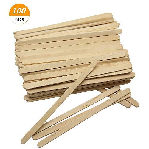 SelfTek 100Pcs Wooden Wax Applicator Spatulas Sticks Hair Removal Stick