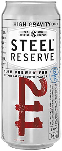 - Steel Reserve High Gravity Lager Beer Can, 8.1 % Abv, 16 Fl Oz, 4 Ct