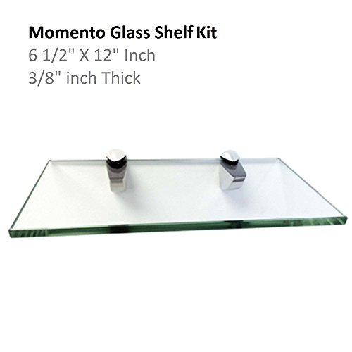 Fab Glass And Mirror Momento Glass Shelf Kit With Chrome Brackets 6 1 2 X 12 Buy Online In Gibraltar Fab Glass And Mirror Products In Gibraltar See Prices Reviews