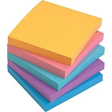 Staples Stickies Assorted Bold Notes