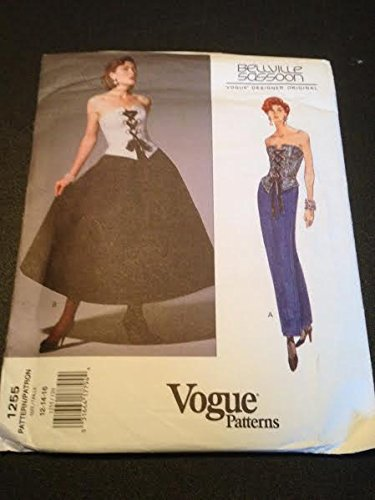 vogue-1255-sewing-pattern-misses-bustier-skirt-size-12-14-16-bellville-sassoon