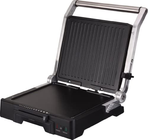 Jata - GR1100 - Grill électrique, 2000 watts, Aluminium/Noir