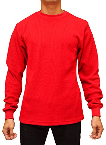 Red Thermal (Access Men's Heavyweight Long Sleeve Thermal Crew Neck Top Red Extra Large)