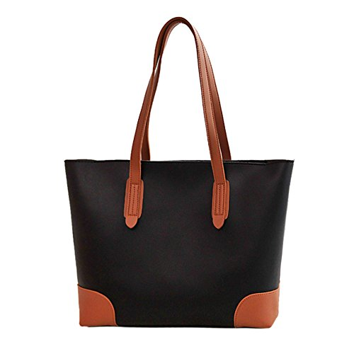 Anne de la mujer Tote Bolsas Casual Gran Capacidad del bolso Lady bolsos grandes bolsas de las mujeres D Black