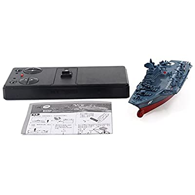 elegantstunning Electric Toys Remote Control Military Warship Model 2.4G Waterproof Mini Aircraft Carrier/Coastal Escort Gift for Kids Silver grey Aircraft Carrier