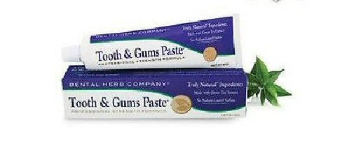 Dental Herb Company Tooth & Gums Paste Travel Size Value Pack 4 Travel Size Tubes