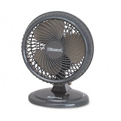 Holmes Lil' Blizzard 8-Inch Lightweight number: HAOF87BLZ-UC SAF Two Speed-Rotary Control Oscillating Table Fan model Portable Desk Cooling Fan Table Personal