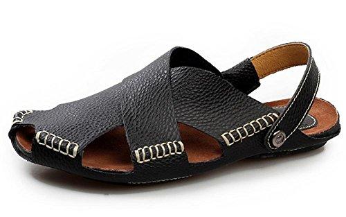 Verano de los nuevos hombres sandalias sandalias de los hombres sandalias casuales de la vaca real 4
