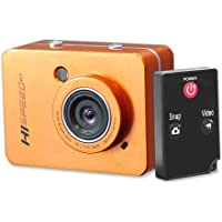 Pyle PSCHD60OR Hi-Speed HD 1080P Action Camera Hi-Res Digital Camera / Camcorder with Full HD Video, 12.0 Mega Pixel Camera, 2.4-Inch Touch Screen LCD Display (Orange)