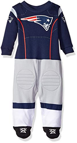 NFL New England Patriots Unisex-Baby Footysuit Coverall, Blue, 3-6 Months ()