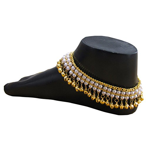 Shoppingover-Indian-Traditional-Belly-Dance-Ghungroo-Anklet-with-Jingling-Bells-Gold-Toned-Foot-Chain