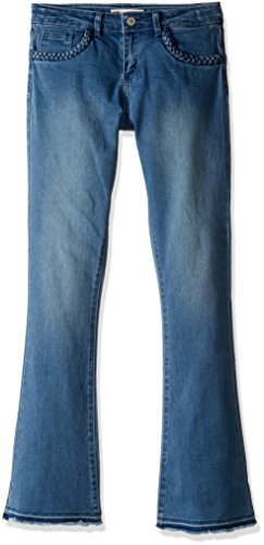 Levi's Big Girls' Mid Rise Flared Boho Jeans, Clean Blue, 12