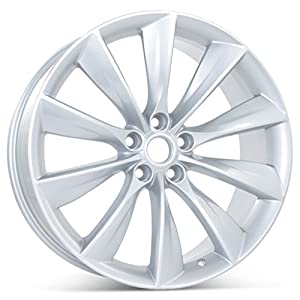 New 21″ x 9″ Rear Wheel for Tesla Model S 2012 2013 2014 2015 2016 2017 Rim 97095 Silver