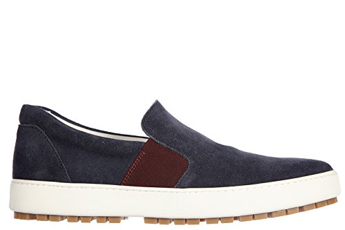 Hogan slip on homme en daim sneakers h242 blu
