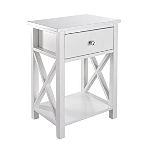 MAGIC UNION Wood End Table with Drawer