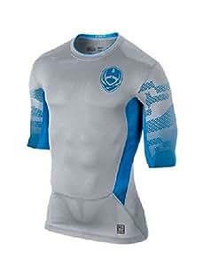 Nike Men's Pro Combat Hypercool Small Grey/Blue