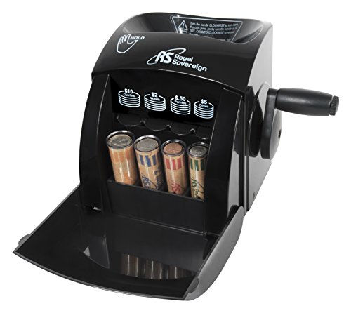 Royal Sovereign 1 Row ECO-Friendly Manual Hand Crank Coin Sorter (QS-1)