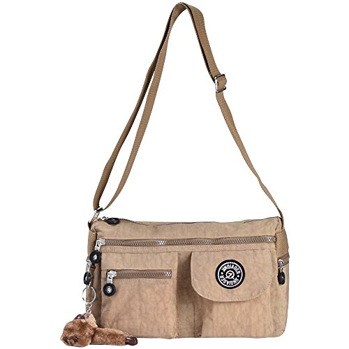 Zip Wiwsi Shoulder Handbag Crossbody Bags Women New Fashion Nylon Khaki Small Satchel Black SISqr