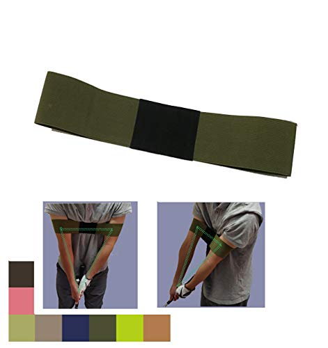 Wafer Golfer Golf Smooth Swing Training Aid Arm Band Posture Motion Correction Belt Trainer for Unisex Golf Beginner (Army - Golf Swing Smooth
