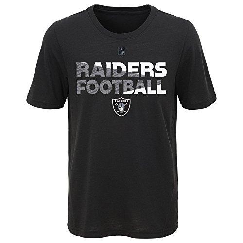 (Outerstuff NFL Big Youth Boys Flux Short Sleeve Ultra Tee, Black, Medium(10-12))