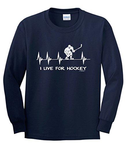 Hockey Heartbeat Heart Sleeve T Shirt